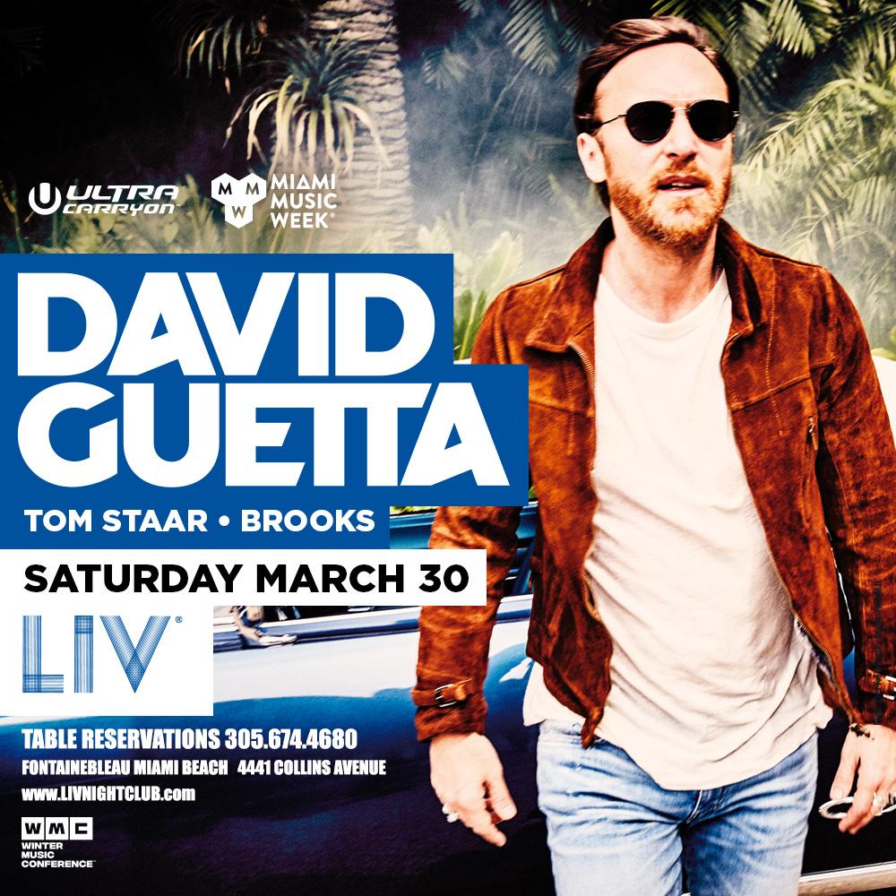 David Guetta LIV - Miami Music Week - Sat. March 30th Image