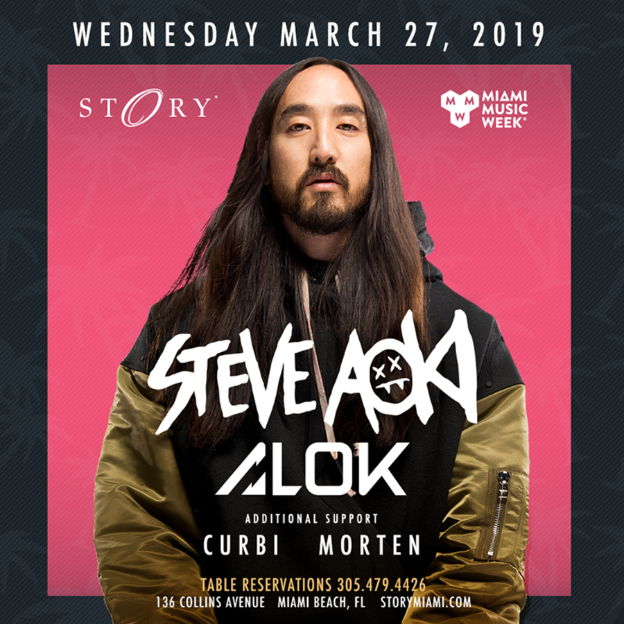 Steve Aoki & Alok STORY - Miami Music Week Wed. March 27th Image