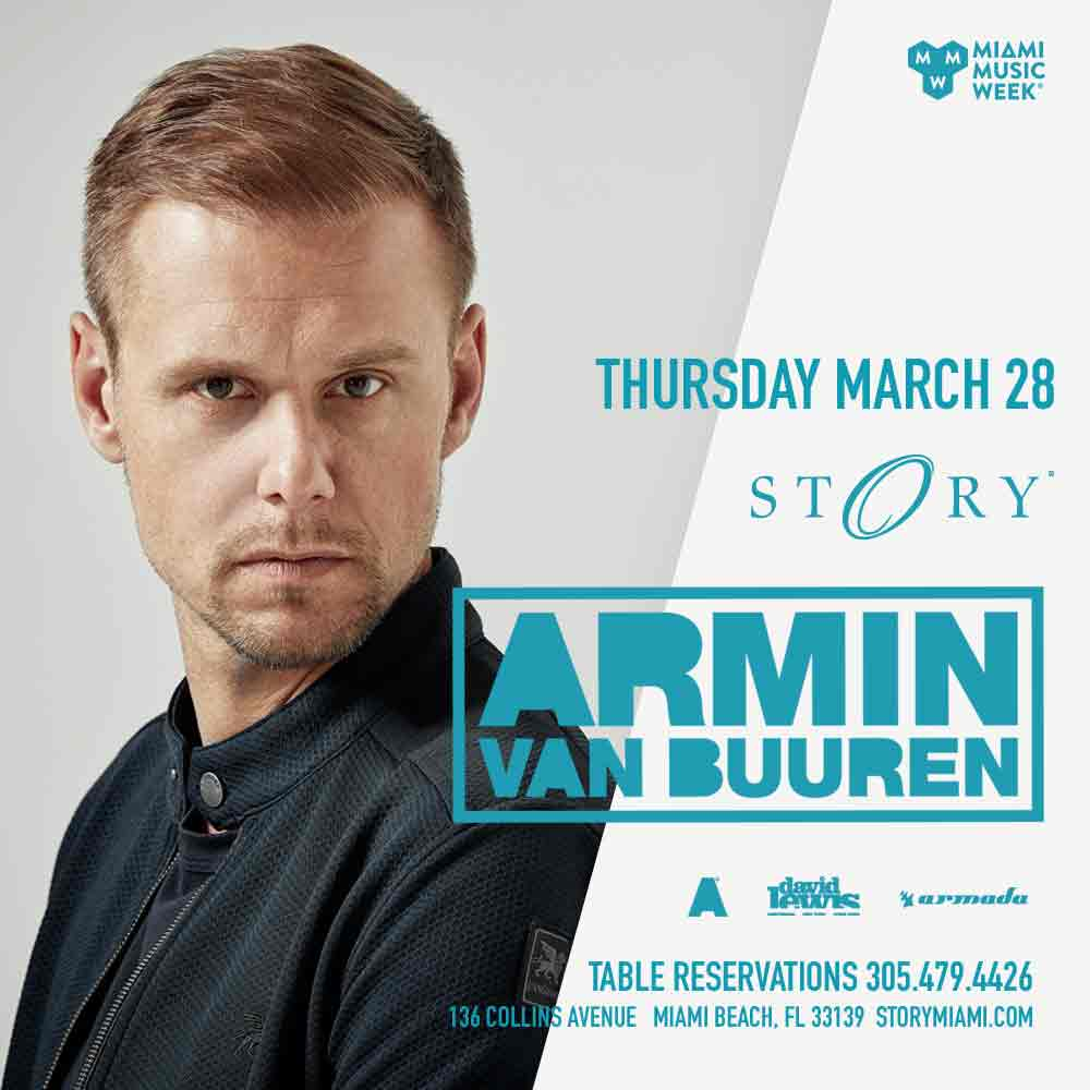 Armin Van Buuren STORY - Miami Music Week - Thurs. March 28th Image