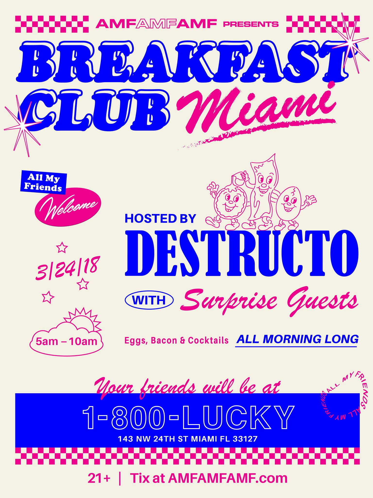AMFAMFAMF Presents Breakfast Club Miami Image