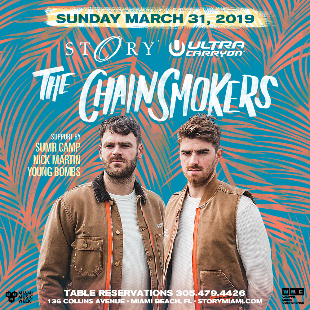 The Chainsmokers STORY - Miami Music Week - Sun. March 31st Image