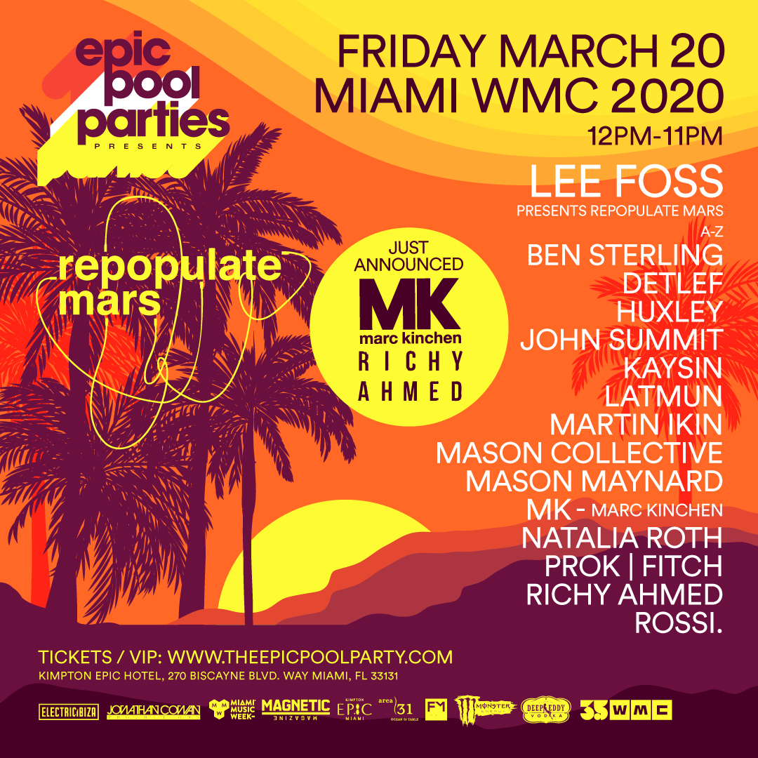 Repopulate Mars at Kimpton Epic Hotel | March 20th Flyer
