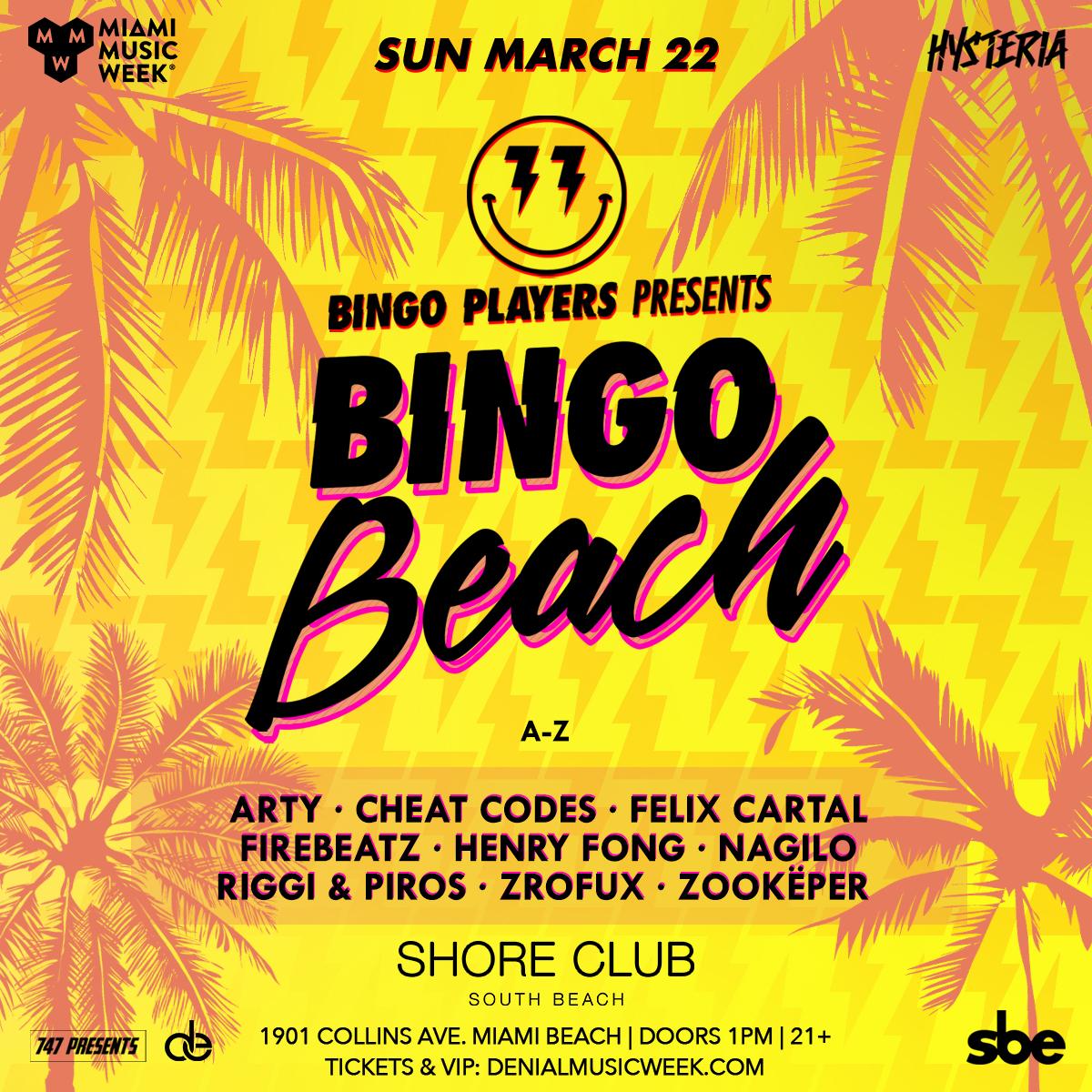 Bingo Players present Bingo Beach Flyer