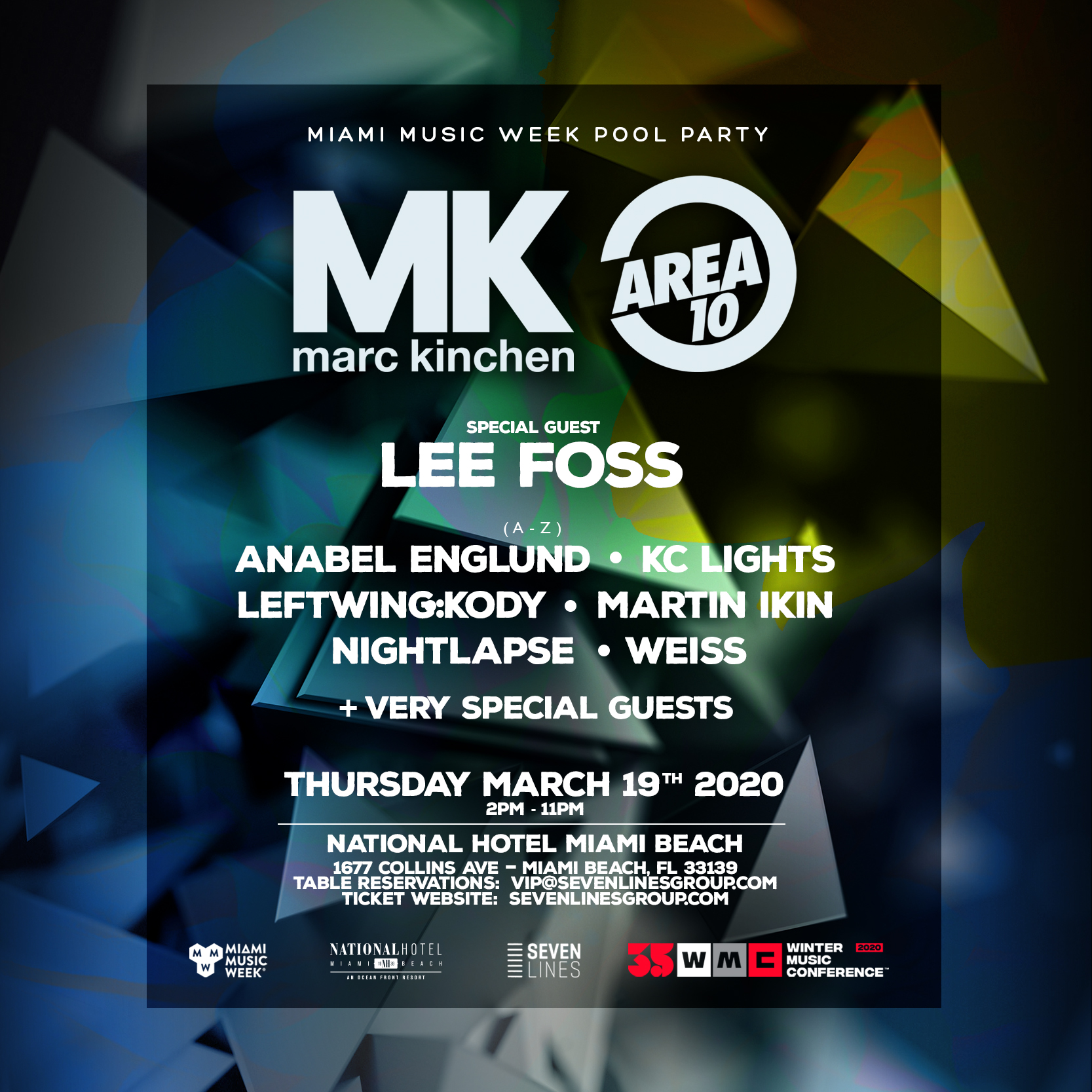 MK Area 10 Pool Party Flyer