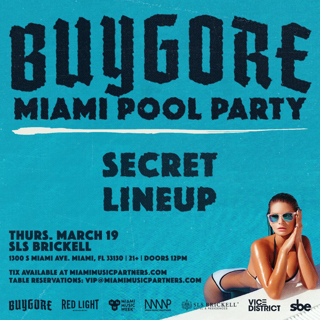 Buygore Miami Pool Party Flyer