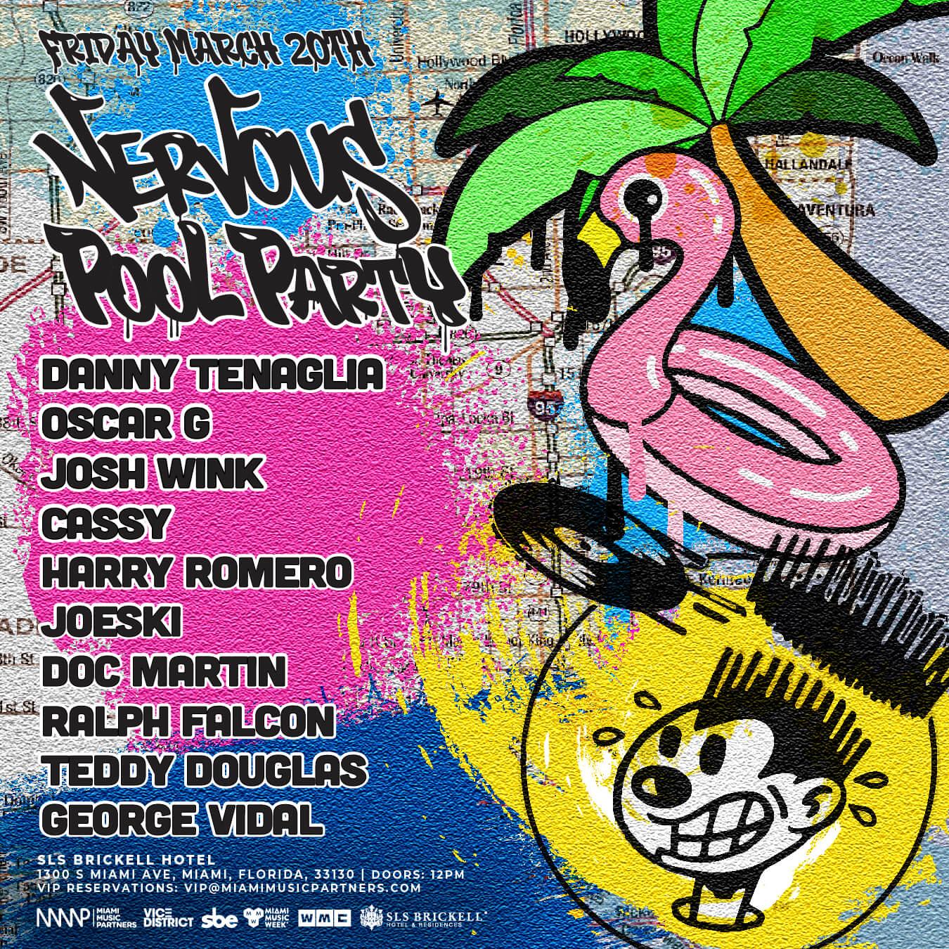 Nervous Pool Party Flyer
