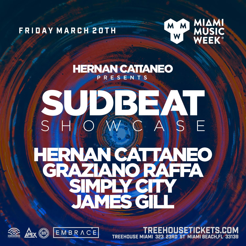 Hernan Cattaneo presents SUDBEAT Showcase Flyer