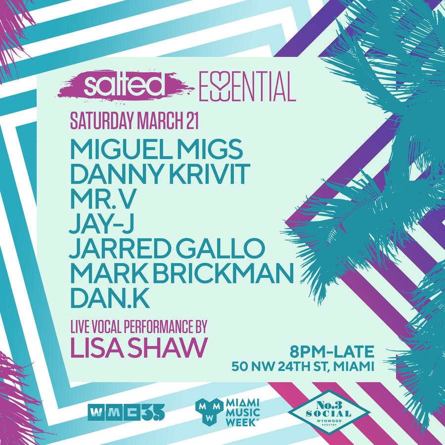 Essential Salted:  Miguel Migs, Danny Krivit, Mr V, Lisa Shaw, Jay-J & more Image