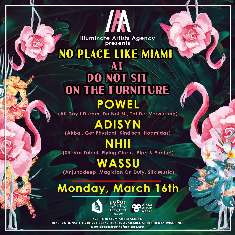 Illuminate Artists Agency Showcase [Miami Music Week Opening] No Place Like Miami Flyer