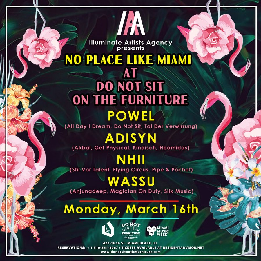 Illuminate Artists Agency Showcase [Miami Music Week Opening] No Place Like Miami Image