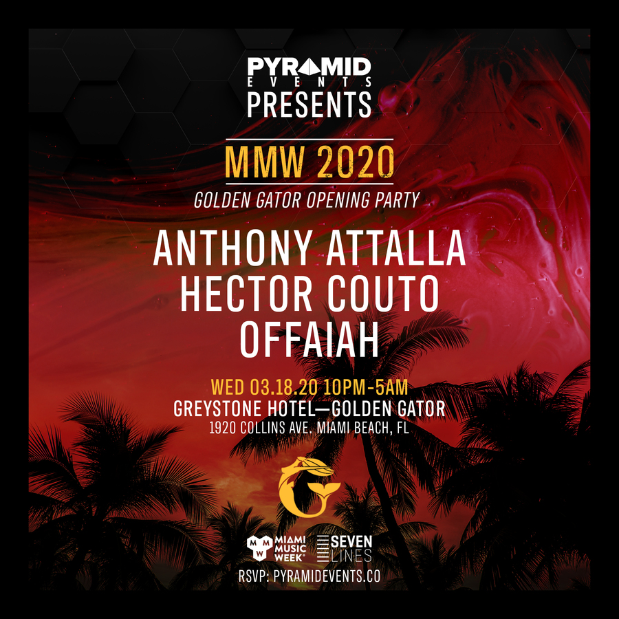 Pyramid Events & Seven Lines presents Anthony Attalla, Hector Couto, OFFAIAH Image