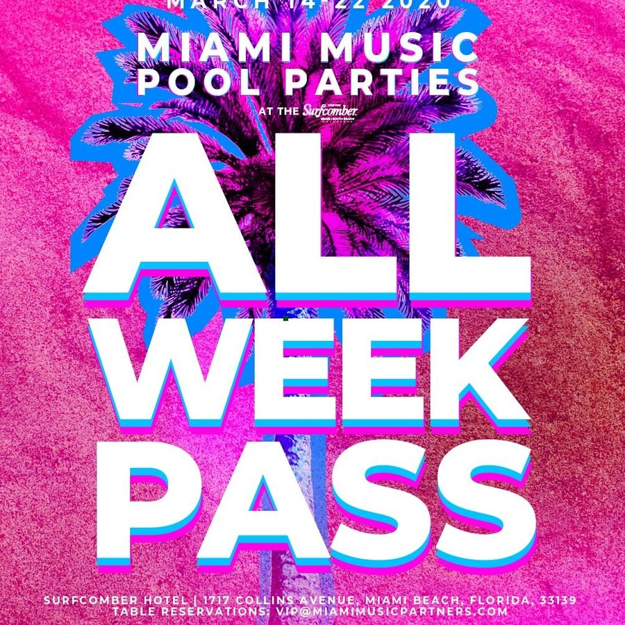 Miami Music Pool Parties at The Surfcomber (All-Week Pass Bands) Image