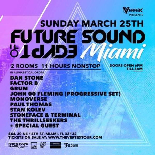 Future Sound of Egypt Miami 2018 Image
